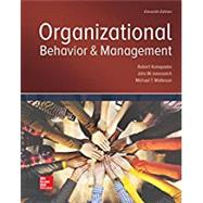 Organizational Behavior and...,Konopaske, Robert;...,9781259894534