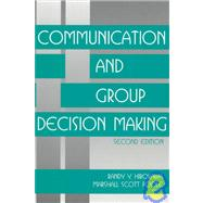 Communication and Group Decision Making by Randy Y. Hirokawa, 9780761904625