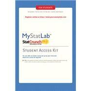 MyStatLab -- Standalone...,Pearson Education,9780321694645