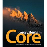 Geosystems Core,Christopherson, Robert W.;...,9780321834744
