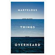 Marvelous Things Overheard Poems by Mlinko, Ange, 9780374534806