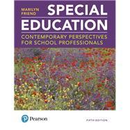 Special Education...,Friend, Marilyn,9780134895000