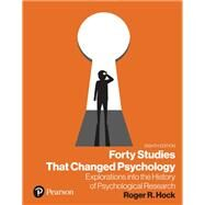 Forty Studies that Changed...,Hock, Roger R.,9780135705063