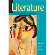Literature: The Human...,Abcarian, Richard; Klotz,...,9781319105068