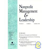 Nonprofit Management & Leadership, Volume 9, No. 4, Fall 1999 , by Dennis R. Young, 9780787915094