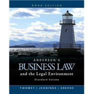 Anderson's Business Law and...,Twomey, David P.; Jennings,...,9781305575110