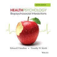 Health Psychology,Sarafino, Edward P.; Smith,...,9781118425206