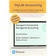 MyLab Accounting with Pearson...,Miller-Nobles; Mattison,9780136715245