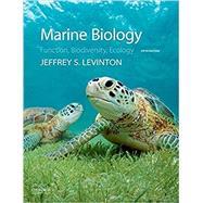 Marine Biology Function,...,Levinton, Jeffrey,9780190625276