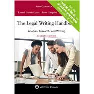 The Legal Writing Handbook Analysis, Research, and Writing by Oates, Laurel Currie; Enquist, Anne; Francis, Jeremy, 9781454895282