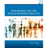 Employment Law for Human...,Walsh, David J.,9781337555326