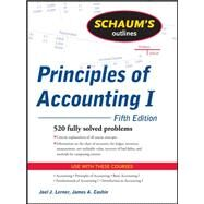 Schaum's Outline of Principles of Accounting I, Fifth Edition by Lerner, Joel; Cashin, James, 9780071635387