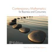Contemporary Mathematics for...,Brechner, Robert; Bergeman,...,9781305585454