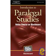 Intro To Paralegal Studies Online Course On Blackboard by Delmar, 9781418055646