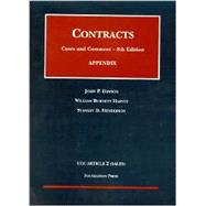 Contracts, Cases and Comment: Appendix, Ucc Article 2 (Sales by Dawson, John P.; Harvey, William Burnett; Henderson, Stanley D., 9781587785764