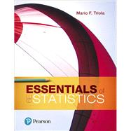 Essentials of Statistics,Triola, Mario F.,9780134685779