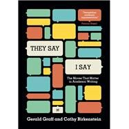 They Say / I Say: The Moves...,Graff, Gerald; Birkenstein,...,9780393935844