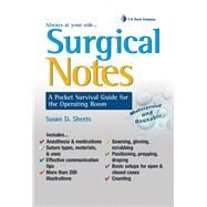 Surgical Notes,Sheets, Susan D. , R. N.,9780803625921
