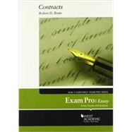 Brain's Exam Pro on Contracts, Essay by Brain, Robert D., 9780314286048