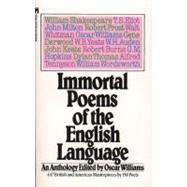 Immortal Poems of the English...,Williams, Oscar,9780671496104