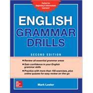 English Grammar Drills,...,Lester, Mark,9781260116175