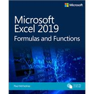 Microsoft Excel 2019 Formulas and Functions by McFedries, Paul, 9781509306190