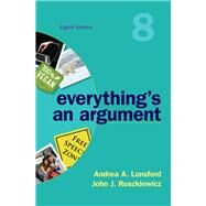 Everything's an Argument,Lunsford, Andrea A.;...,9781319056278