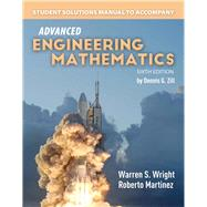 Student Solutions Manual to accompany Advanced Engineering Mathematics by Zill, Dennis G., 9781284106312
