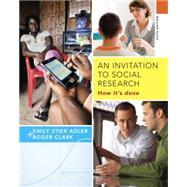 An Invitation to Social...,Adler; Clark,9781285746425