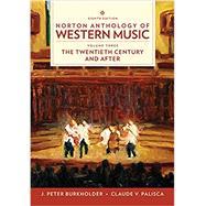 Norton Anthology of Western...,Burkholder, J. Peter; Grout,...,9780393656435