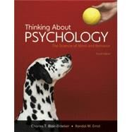 Thinking About Psychology,...,Blair-Broeker, Charles T.;...,9781464186547