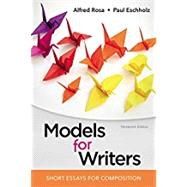 Models for Writers Short...,Rosa, Alfred; Eschholz, Paul,9781319056650