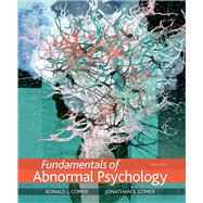 Fundamentals of Abnormal...,Comer, Ronald J.; Comer,...,9781319126698