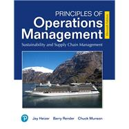 MyLab Operations Management with Pearson eText -- Access Card -- for Principles of Operations Mangement Sustainability and Supply Chain Management by Heizer, Jay; Render, Barry; Munson, Chuck, 9780135226742