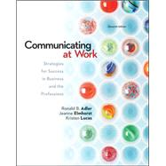 Communicating at Work:...,Adler, Ronald; Elmhorst,...,9780078036804
