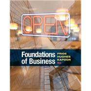 Foundations of Business,Pride, William M.; Hughes,...,9781337386920