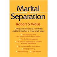 Marital Separation,Weiss, Robert S,9780465097234