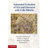 Automated Evaluation of Text...,Danielle S. McNamara , Arthur...,9780521137294