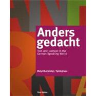 Anders gedacht Text and...,Motyl-Mudretzkyj, Irene;...,9781133607304