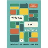 They Say / I Say: The Moves...,Graff, Gerald; Birkenstein,...,9780393937510