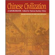 Chinese Civilization A...,Ebrey, Patricia Buckley;...,9780029087527