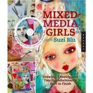 Mixed-Media Girls with Suzi...,Blu, Suzi,9781592537693
