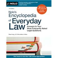 Nolo's Encyclopedia of Everyday Law by Irving, Shae; Nolo, 9781413327748