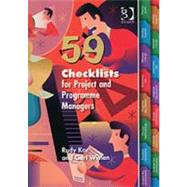 59 Checklists for Project And Programme Managers by Kor,Rudy, 9780566087752