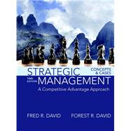 Strategic Management A...,David, Fred R.; David, Forest...,9780134167848