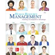 Human Resource Management by Noe, Raymond;Wright , Patrick;Gerhart , Barry;Hollenbeck , John, 9781259578120