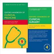 Pack of Oxford Handbook of Clinical Medicine 9e and Oxford Handbook of Clinical Surgery 4e by Longmore, Murray; Wilkinson, Ian; Baldwin, Andrew; McLatchie, Greg; Borley, Neil; Chikwe, Joanna, 9780198758204
