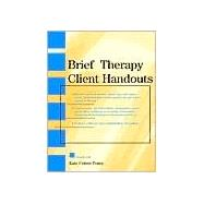 Brief Therapy Client Handouts,Cohen-Posey, Kate,9780471328469