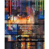 Psychology Applied to Modern...,Weiten, Wayne; Dunn, Dana S.;...,9781305968479