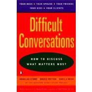 Difficult Conversations,Stone, Douglas; Patton,...,9780140288520